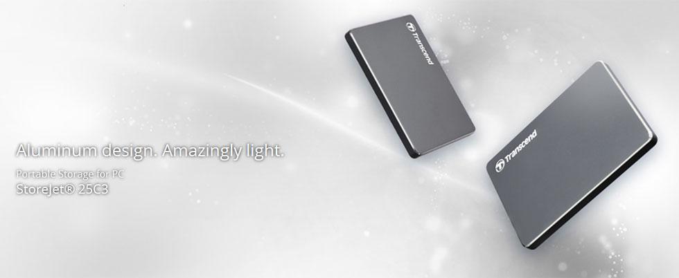 Transcend StoreJet 25C3N USB3.0 | Extra Slim External Hard Drive