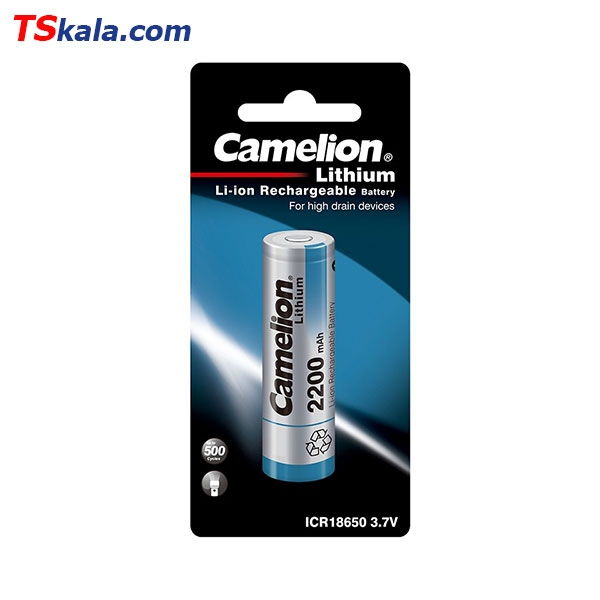 Camelion ICR18650 2200mAh Lithium Rechageable Battery 1x | باطری قابل شارژ
