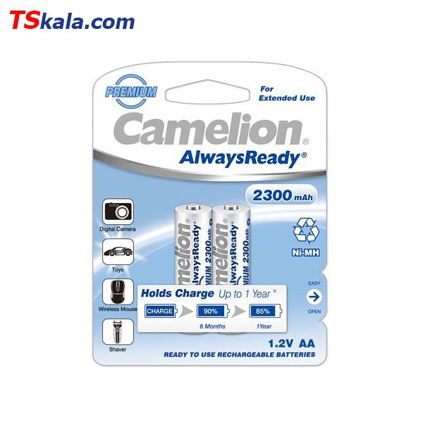 Camelion HR6|AA 2300mAh Ni-MH Rechargeable Battery 2x | باطری قابل شارژ