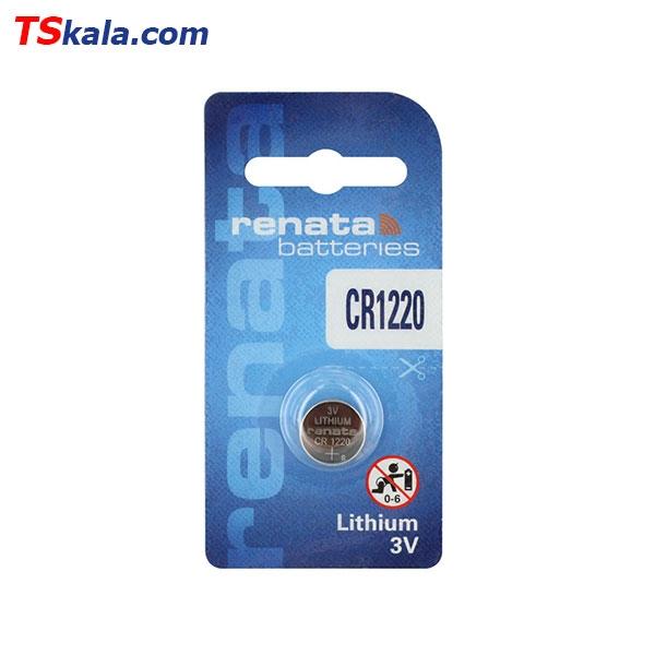 باتری سکه ای رناتا Renata CR1220 Lithium Battery 1x