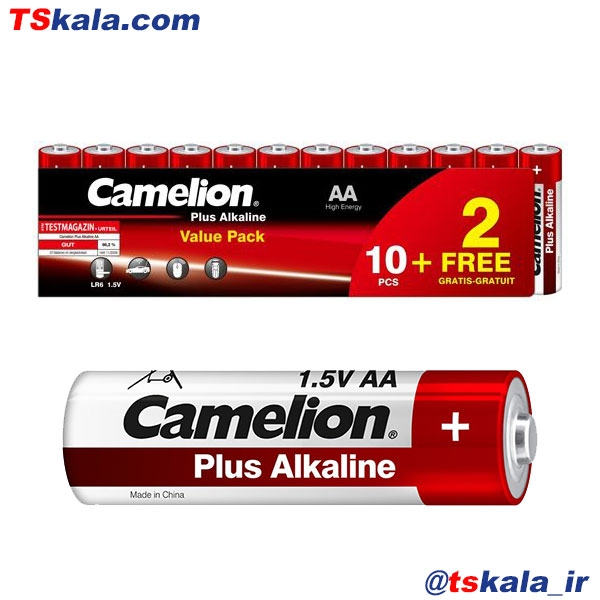 باتری قلمی کملیون Camelion AA Plus Alkaline Battery Battery 12x