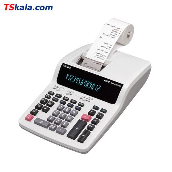 ماشین حساب کاسیو | CASIO DR-120TM-WE Calculator