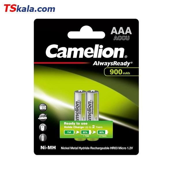 باتری نیم قلمی قابل شارژ کملیون Camelion HR03 900mAh Ni-MH AAA 2x