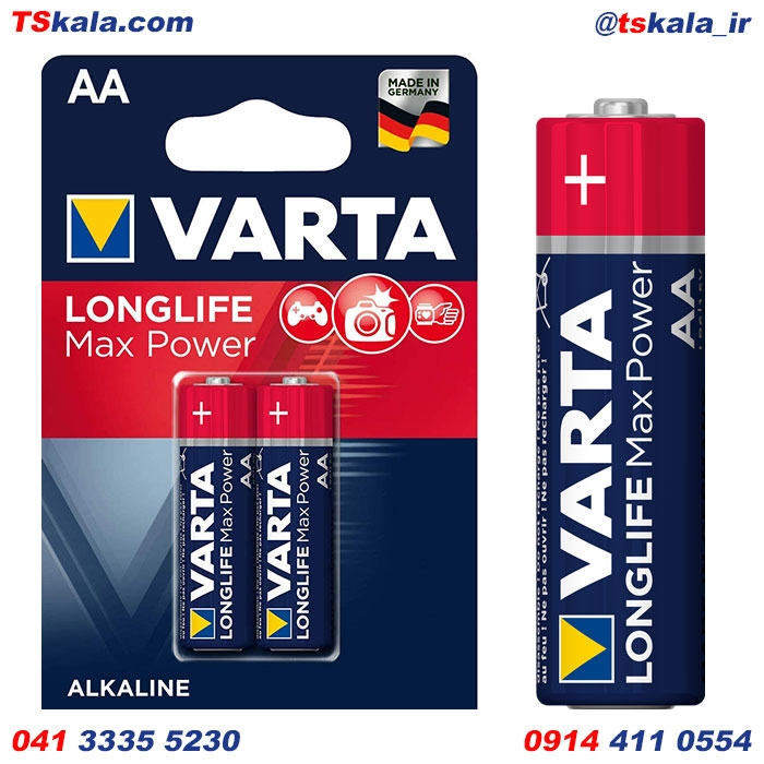 باتری قلمی وارتا VARTA AA LONGLIFE MAX POWER Alkaline Battery 2x