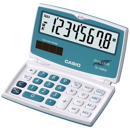 ماشین حساب کاسیو | CASIO SL-100NC-BU Calculator
