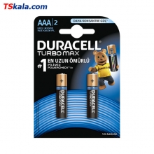 DURACELL LR03|AAA TURBO MAX Alkaline Battery 2x | باطری نیم قلمی