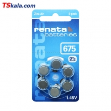 Renata 675|PR44 Hearing Aid Battery 6x | باطری سمعک رناتا