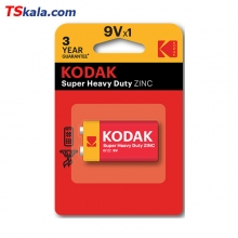 باطری کتابی 9 ولت کداک KODAK 6F22 Super Heavy Duty 9V 1x