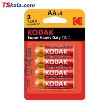 باطری قلمی کداک KODAK 4R6P Zinc Battery AA 4x