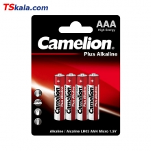باتری نیم قلمی کملیون Camelion LR03 Plus Alkaline AAA 4x