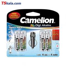 Camelion 4LR6|AA+4LR03|AAA Digi Alkaline Battery 8x | باطری قلم+نیم قلم
