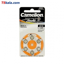 Camelion ZA13 Hearing Aid Battery 6x | باطری سمعک کملیون