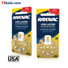 Rayovac Hearing Aid Battery-10|PR70 8x | باطری سمعک