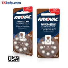 Rayovac Hearing Aid Battery-312|PR41 8x | باطری سمعک