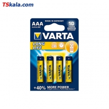 VARTA LR03|AAA LONG LIFE Alkaline Battery 4x | باطری نیم قلم