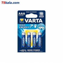 VARTA LR03|AAA HIGH ENERGY Alkaline Battery 4x | باطری نیم قلم