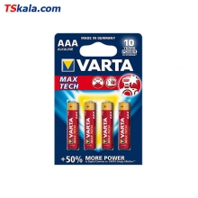 VARTA LR03|AAA MAX TECH Alkaline Battery 4x | باطری نیم قلم