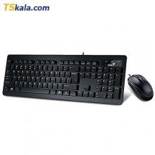 Genius SlimStar C130 Wired Keyboard+Mouse - USB | کیبورد+ماوس جنیوس