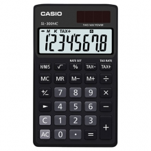CASIO SL-300NC-BK Practical Calculator | ماشین حساب جیبی کاسیو