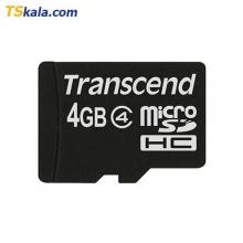 Transcend microSDHC Card Class4 - 4GB | کارت حافظه میکرو اس دی ترنسند