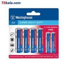 Westinghose 4R6P|AA+2R03P|AAA  Super Heavy Duty Battery 6x
