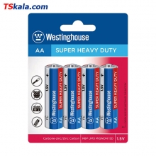 Westinghouse R6P|AA SUPER HEAVY DUTY Battery 4x | باطری قلم