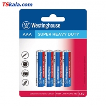 Westinghouse SUPER HEAVY DUTY Battery – AAA|R03P 4x | باطری نیم قلم