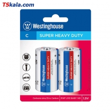 Westinghouse SUPER HEAVY DUTY Battery – C|R14P 2x | باطری متوسط وستینگ هاوس