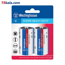 باتری سایز بزرگ Westinghouse R20P SUPER HEAVY DUTY D 2x