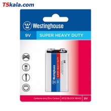باتری کتابی 9 ولت Westinghouse 6F22 SUPER HEAVY DUTY 9V 1x