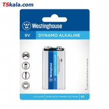 Westinghouse DYNAMO Alkaline Battery – 9V|6LR61 1x | باطری کتابی وستینگ هاوس
