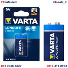 باتری 9 ولت کتابی وارتا VARTA 9V LONGLIFE POWER Alkaline Battery 1x