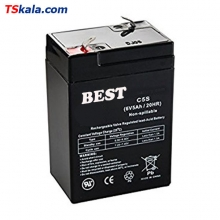 BEST 6V/5Ah/20HR Sealed Lead Acid Battery | باطری سیلد لید اسید