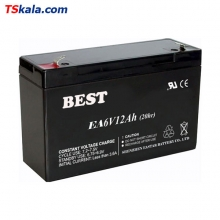BEST 6V/12Ah/20HR Sealed Lead Acid Battery | باطری سیلد لید اسید
