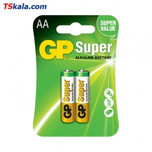 GP Super Alkaline Battery – AA|LR6 2x | باطری قلمی جی پی
