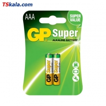 GP Super Alkaline Battery – AAA|LR03 2x | باطری نیم قلمی جی پی