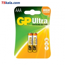 GP LR03|AAA Ultra Alkaline Battery 2x | باطری نیم قلمی