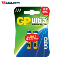 GP Ultra Plus Alkaline Battery – AAA|LR03 2x | باطری نیم قلمی جی پی