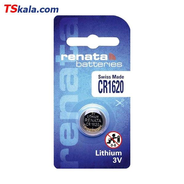 باتری سکه ای رناتا Renata CR1620 Lithium Battery 1x