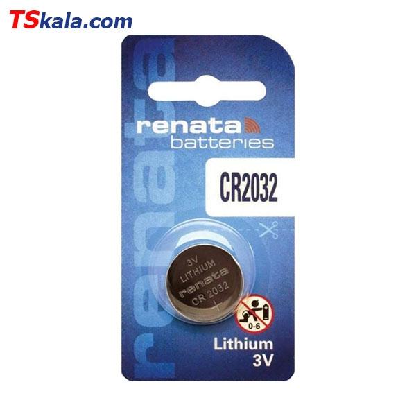 باتری سکه ای رناتا Renata CR2032 Lithium Battery 1x