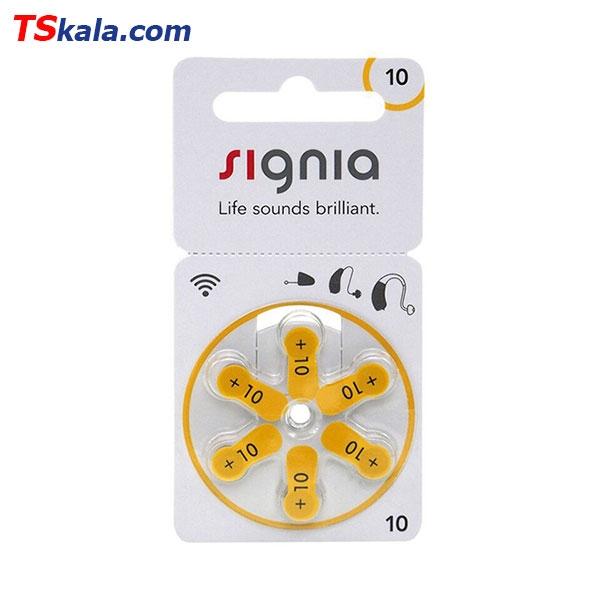 باتری سمعک سیگنیا زیمنس Signia ZA10 Hearing Aid Battery 6x