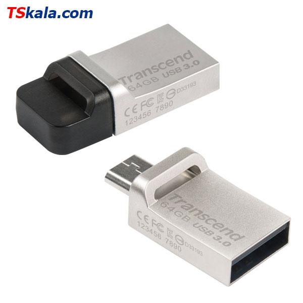 فلش مموری ترنسند Transcend JetFlash 880S OTG USB3.0 32GB