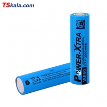 باتری قابل شارژ پاوراکسترا Power Xtra ICR18650 2000mAh Lithium 1x