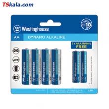 باتری دینامو آلکالاین وستینگهاوس 6 تایی 4 تا قلمی  و 2 تا نیم قلمی