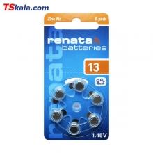 باتری سمعک رناتا Renata ZA13 Hearing Aid Battery 6x