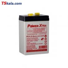 باطری پاوراکسترا Power-Xtra 6V 4.5AH Sealed Lead Battery