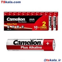 باتری نیم قلمی کملیون Camelion Plus Alkaline Battery AAA 12x