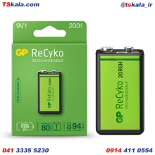 باتری 9ولت کتابی قابل شارژ جی پی GP 9V NiMH 200mAh ReCyko