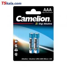 باتری نیم قلمی کملیون Camelion LR03 Digi Alkaline AAA 2x