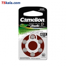 باتری سمعک کملیون Camelion ZA312 Hearing Aid 6x